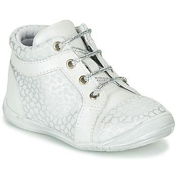 Cipők Lány Magas szárú edzőcipők GBB OMANE Szürke / Fehér