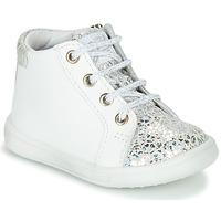 Cipők Lány Magas szárú edzőcipők GBB FAMIA Fehér / Ezüst
