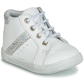 Cipők Lány Magas szárú edzőcipők GBB AGLAE Fehér