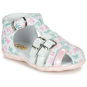 Cipők Lány Szandálok / Saruk GBB RIVIERA Fehér / Rózsaszín