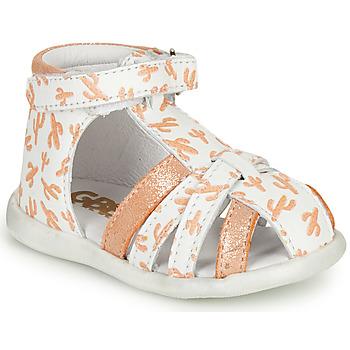 Cipők Lány Szandálok / Saruk GBB AGRIPINE Fehér / Narancssárga