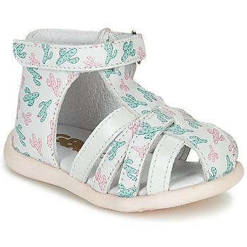 Cipők Lány Szandálok / Saruk GBB AGRIPINE Fehér / Zöld / Rózsaszín