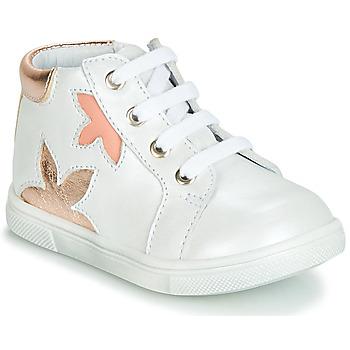 Cipők Lány Magas szárú edzőcipők GBB ALEXA Fehér