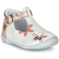 Cipők Lány Balerina cipők  GBB ANAXI Fehér / Rózsaszín / Arany