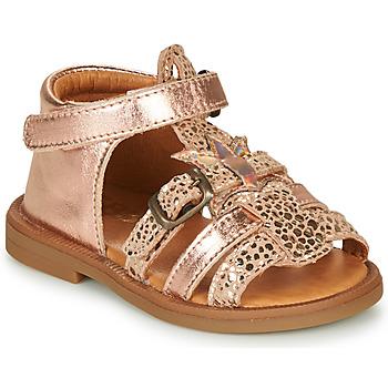 Cipők Lány Szandálok / Saruk GBB CARETTE Rózsaszín / Arany