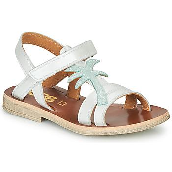 Cipők Lány Szandálok / Saruk GBB SAPELA Fehér