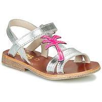 Cipők Lány Szandálok / Saruk GBB SAPELA Ezüst / Rózsaszín