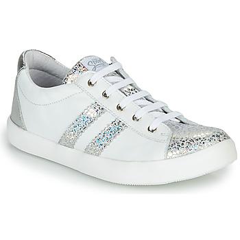 Cipők Lány Rövid szárú edzőcipők GBB MAPLUE Fehér / Ezüst