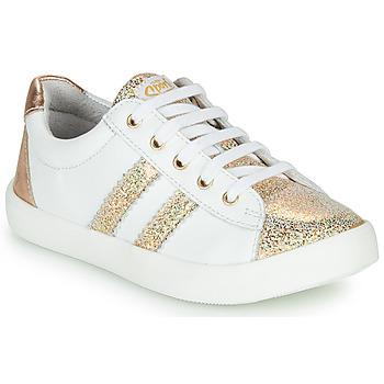 Cipők Lány Rövid szárú edzőcipők GBB MAPLUE Fehér / Arany