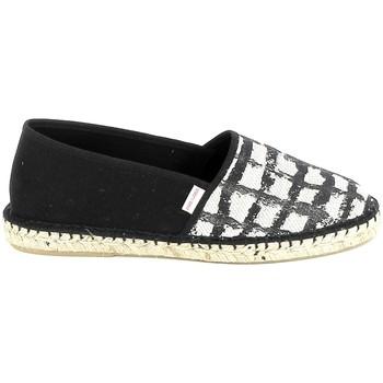 Cipők Női Gyékény talpú cipők Pare Gabia PARE GABIA VP Mix Noir Blanc Fekete