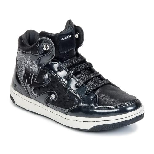 Cipők Lány Magas szárú edzőcipők Geox CREAMY A Fekete