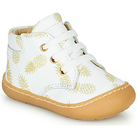 Cipők Lány Magas szárú edzőcipők GBB ATARINA Fehér / Arany