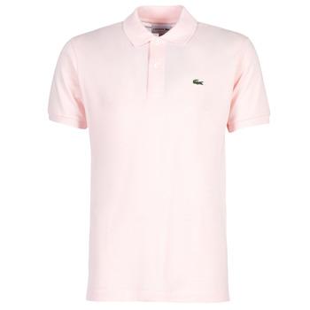 Ruhák Férfi Rövid ujjú galléros pólók Lacoste POLO L12 12 REGULAR Rózsaszín