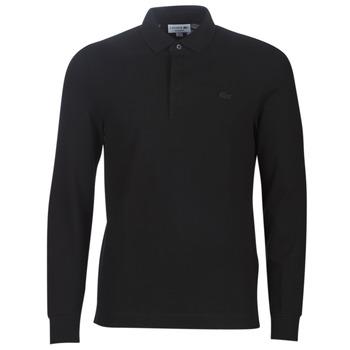 Ruhák Férfi Hosszú ujjú galléros pólók Lacoste PH2481 REGULAR Fekete