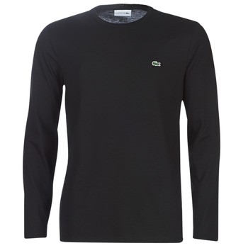 Ruhák Férfi Hosszú ujjú pólók Lacoste TH6712 Fekete