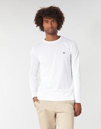 Ruhák Férfi Hosszú ujjú pólók Lacoste TH6712 Fehér