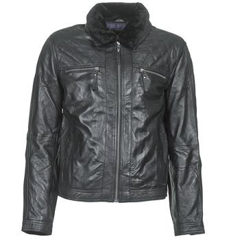 Ruhák Férfi Bőrkabátok / műbőr kabátok Teddy Smith BLEATHER Fekete