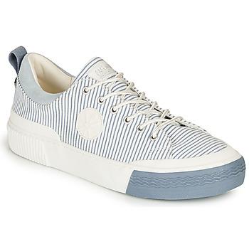 Cipők Női Rövid szárú edzőcipők Palladium STUDIO 02 TXT Fehér / Kék