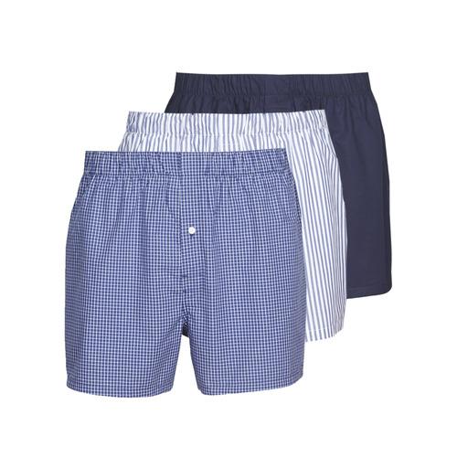 Fehérnemű Férfi Alsónadrágok Lacoste 7H3394-8X0 Fehér / Kék