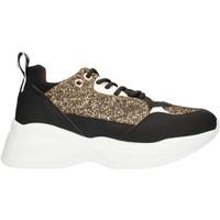 Cipők Női Rövid szárú edzőcipők Alexander Smith SP73896 Black gold and white