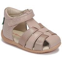 Cipők Lány Szandálok / Saruk Kickers BIGFLO-2 Rózsaszín / Fémes