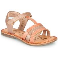 Cipők Lány Szandálok / Saruk Kickers DIAMANTO Rózsaszín / Narancssárga