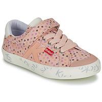 Cipők Lány Rövid szárú edzőcipők Kickers GODY Rózsaszín / Borsó