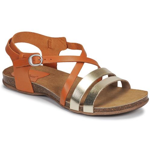 Cipők Női Szandálok / Saruk Kickers ANATOMIUM Teve / Arany
