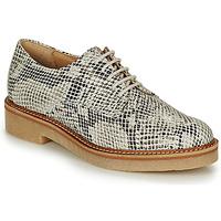 Cipők Női Oxford cipők Kickers OXFORK Fehér / Fekete  / Piton
