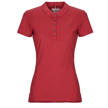 Ruhák Női Rövid ujjú galléros pólók Tommy Hilfiger NEW CHIARA Piros