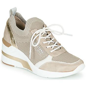 Cipők Női Rövid szárú edzőcipők Mustang 1303303-4 Bézs