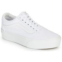 Cipők Női Rövid szárú edzőcipők Vans OLD SKOOL PLATFORM Fehér