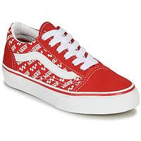 Cipők Gyerek Rövid szárú edzőcipők Vans OLD SKOOL Piros / Fehér