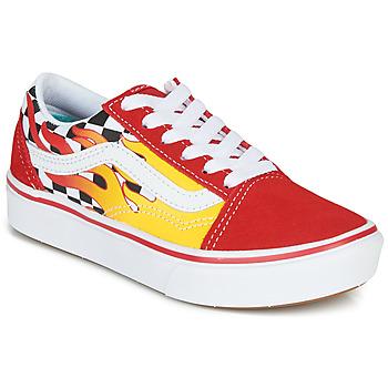 Cipők Fiú Rövid szárú edzőcipők Vans COMFYCUSH OLD SKOOL Piros / Citromsárga