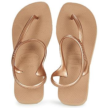 Cipők Női Lábujjközös papucsok Havaianas FLASH URBAN Rózsaszín / Arany