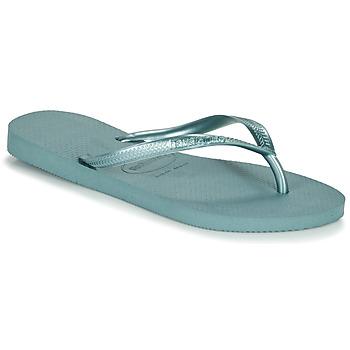 Cipők Női Lábujjközös papucsok Havaianas SLIM Kék
