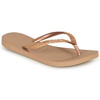 Cipők Női Lábujjközös papucsok Havaianas SLIM GLITTER Rózsaszín / Arany