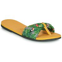 Cipők Női Lábujjközös papucsok Havaianas YOU SAINT TROPEZ Citromsárga / Zöld