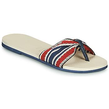 Cipők Női Lábujjközös papucsok Havaianas YOU SAINT TROPEZ FITA Bézs / Tengerész / Piros