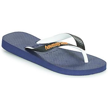 Cipők Lábujjközös papucsok Havaianas TOP MIX Tengerész / Fekete