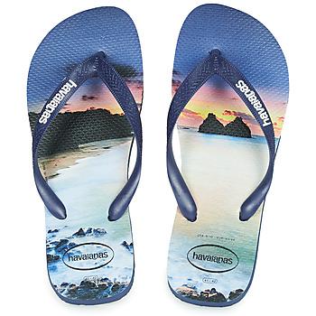 Cipők Férfi Lábujjközös papucsok Havaianas HYPE Tengerész