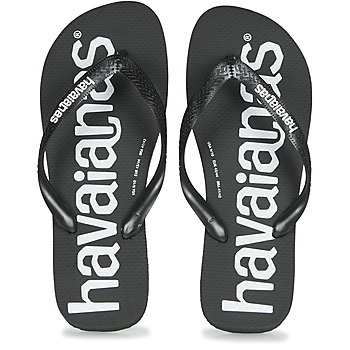 Cipők Férfi Lábujjközös papucsok Havaianas TOP LOGOMANIA Fekete