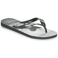 Cipők Férfi Lábujjközös papucsok Havaianas TOP PHOTOPRINT Fekete  / Fehér