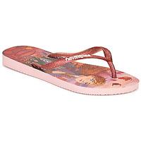 Cipők Lány Lábujjközös papucsok Havaianas KIDS SLIM FROZEN Rózsaszín