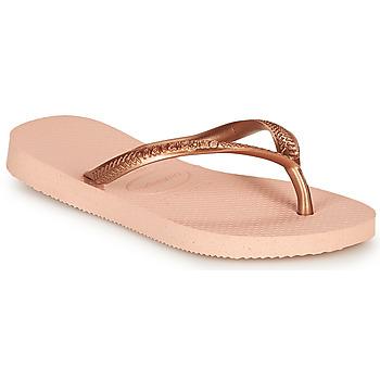 Cipők Lány Lábujjközös papucsok Havaianas SLIM Rózsaszín