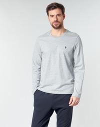Ruhák Férfi Hosszú ujjú pólók Polo Ralph Lauren L/S CREW-CREW-SLEEP TOP Szürke