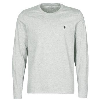 Ruhák Férfi Rövid ujjú pólók Polo Ralph Lauren L/S CREW-CREW-SLEEP TOP Szürke