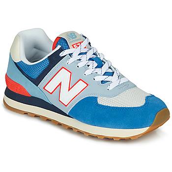 Cipők Rövid szárú edzőcipők New Balance 574 Kék / Szürke / Narancssárga