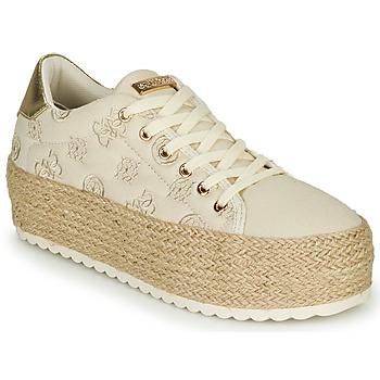 Cipők Női Rövid szárú edzőcipők Guess MARILYN Bézs
