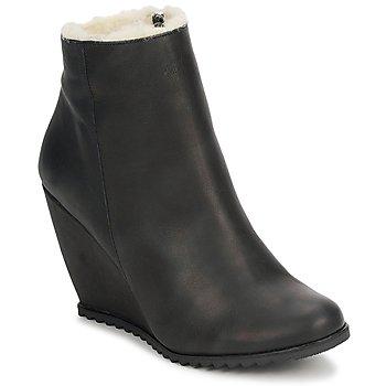 Cipők Női Bokacsizmák D.Co Copenhagen SALLY ZIPPER Fekete